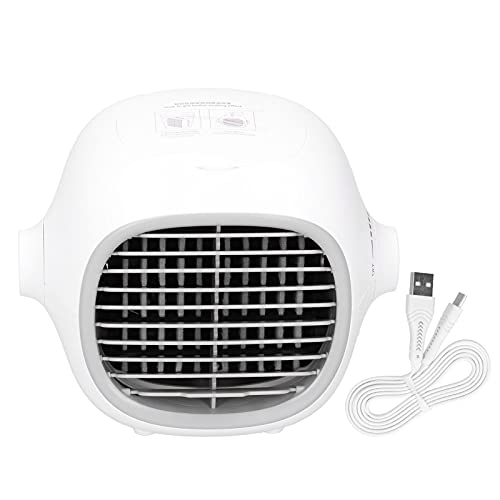 Air Conditioner Fan, Evaporative Air Conditioner Fan USB Charging Portable Air Conditioner Mini Evaporative Air Cooler for School for Office for Bedroom