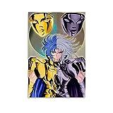 MIDF Póster de anime de Saint Seiya Géminis Saga Géminis, cuadro decorativo para pared, para sala de estar, dormitorio, 50 x 75 cm
