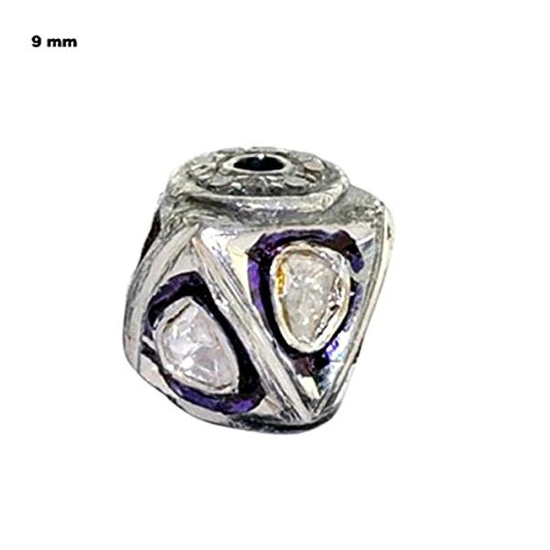 Rose Cut Diamond Silver 9mm Bead Ball Jewelry making supply- PJBE2035 jvwbkbgp083410