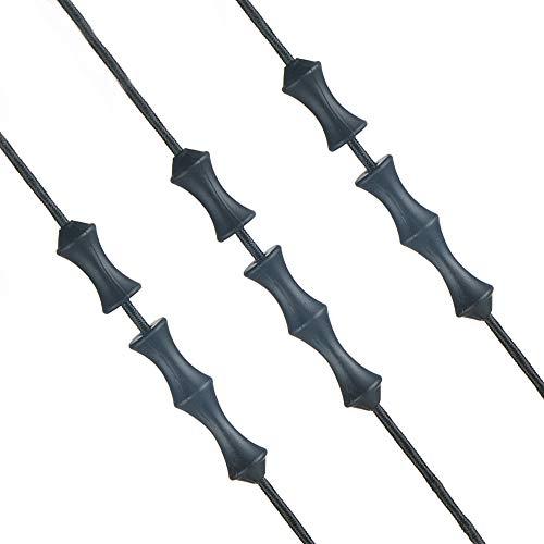 Huntingdoor 4 Stück Fingerschoner Bogen, Bowstring Fingerschutz Silikon Bogensehne Bogenschießen Sparer Fingerschutz für Jagd (Schwarz)