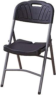 RONGJJ Silla Plegable Moderna Silla de Escritorio Silla de Escritorio Acolchada de plástico Negro Asiento de Comedor Silla de Escritorio,