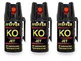 Pfefferspray KO Jet Hundeabwehr Verteidigungsspray 40ml Abwehrspray Pepper Defender (KO Jet 40 ML...