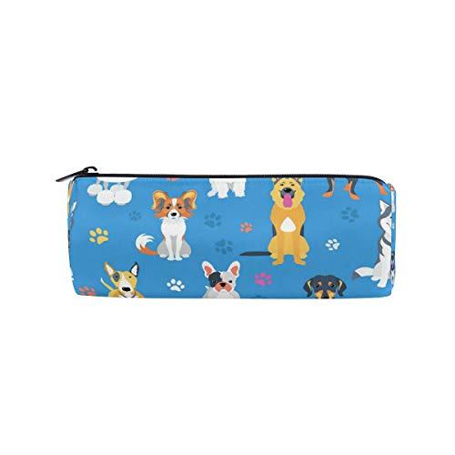 JOKERR Pencil Case Animal Dog Paw Print Pencil Bag Pen Zipper Bag Pouch Organiser Makeup Brush Bag for Girls Kids School Student Stationery Office Supplies
