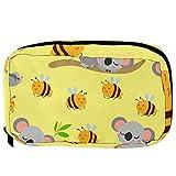 Bolsas de cosméticos lindo bebé koala dormir con abeja voladora práctica bolsa de viaje Oragniser bolsa de maquillaje para mujeres y niñas
