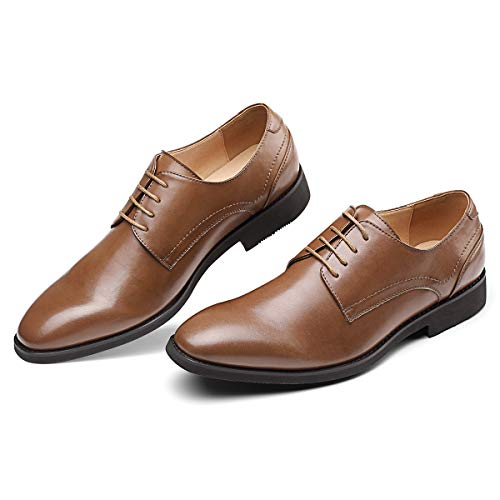 Men's Brown Dress Shoes Formal Lace Up Blucher Oxford Shoes 9.0