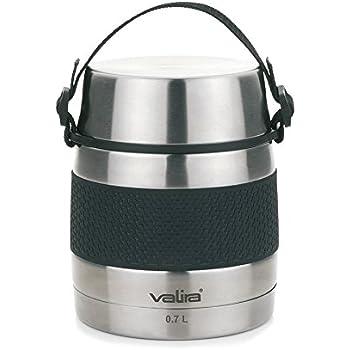 Valira 6614 Termo para sólidos con 2 contenedores interiores, Acero inoxidable, 0.7 L: Amazon.es: Hogar