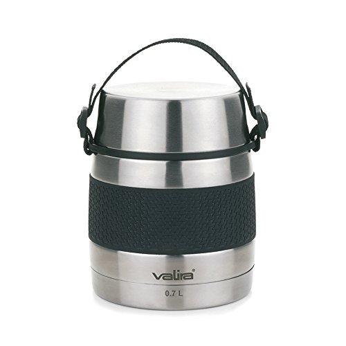 Valira 6614 Termo para sólidos con 2 contenedores interiores, Acero inoxidable, 0.7 L