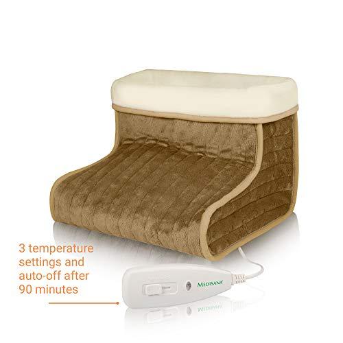 Medisana FWS - Calientapiés, con protección sobre el calentamiento, color gris y blanco