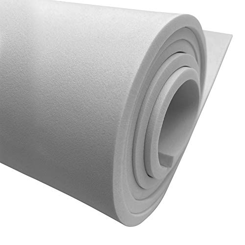 Cosplay Pros EVA Foam High Density Flat Sheet | 23.6' & 59' Lengths | 38kg/m3 Hardness (White, 10mm - Thickness)