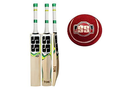 SS Tonnen Tennis Cricket Bat mit gratis COSCO Cricket-Ball/Tennisball Shipping (Tischtennisschläger-Hülle im lieferumfang enthalten)