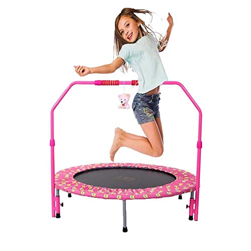 TBTBGXQ Sports Trampoline for Indoor and Outdoor Use, 36 inch Kids Trampoline with Handrail and Safety Cover, Mini Parent-Child Trampoline for Kids, Foldable No-Spring Band Rebounder