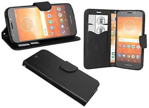 cofi1453® Buch Tasche Fancy kompatibel mit Motorola Moto E5 Plus Handy Hülle Etui Brieftasche Schutzhülle mit Standfunktion, Kartenfach Schwarz