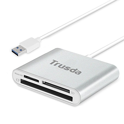 Lector Tarjeta de Memoria SD/Micro SD/CF, Ultra-rápido USB 3.0 Lector Multitarjetas para iMac, MacBook Air, Macbook Pro, Mac Mini, Computadoras de Escritorio y Portátiles