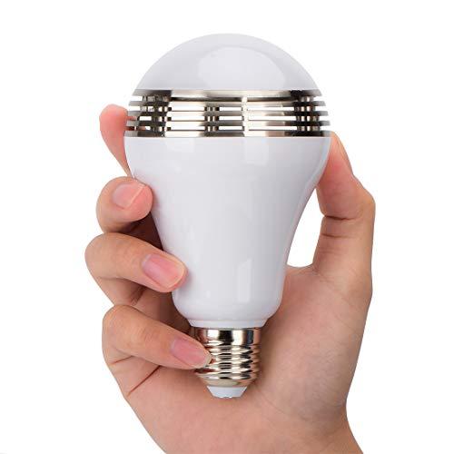 ZHIXIANG 8W Musik Leuchtmittel Mit Bluetooth, Smart Dimmbar Bluetooth Lautsprecher Leuchtmittel LED Musik Licht Glühbirne Kostenlose App Control Für Ios Und Android,B22