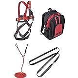Teufelberger Grip 12 - Set de protección contra caídas con amortiguador de cinta en la mochila