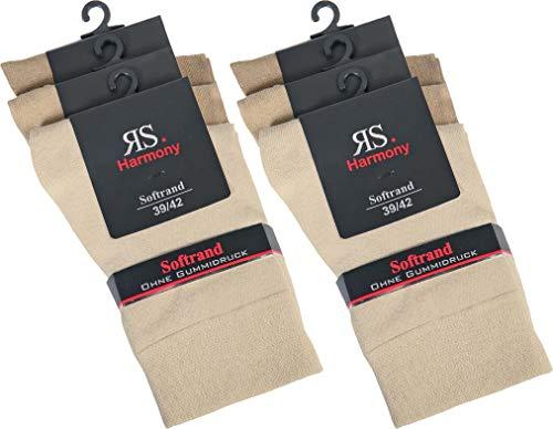RS. Harmony | Socken & Strümpfe für Damen | Klassisch Lady ohne Gummidruck | 6 Paar | Naturtöne | 39-42