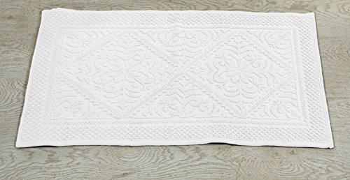 Bessere Trends/Pfanne Overseas Provence Jaquard Bad Teppich, weiß, 43,2x 61cm