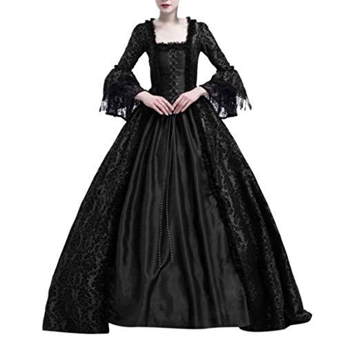 Damen Kleid, Mittelalterliche Renaissance Königin Ballkleid Bell Sleeve Maxi Kleid Halloween Kostüm Geschenk Von Allence