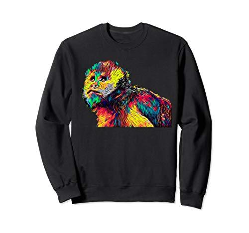Capuchin Affe Farbig Sweatshirt