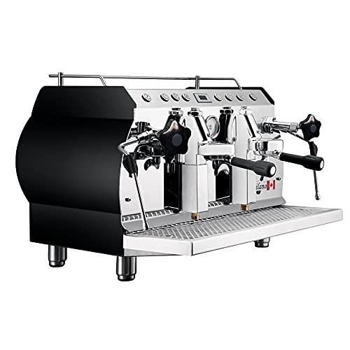 Chef Prosentials 2Group Espressomaschine für Cappuccino & Latte & Americano Kaffee Milchschäumung
