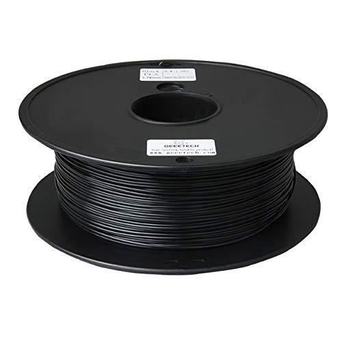 Verpackung Einer Vielzahl von Farben 1 kg 1.75mm PLA 3D Vakuum Drucker Filament 3D-Drucker Filament PLA Filament PLA 3D Pen Filament Refills (Color : Black)