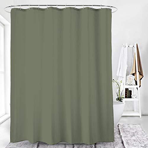 Duschvorhang Textil Badewannenvorhang 120/180 / 240 x 200 cm inkl Ringe (120x200cm, Zeltgrau)