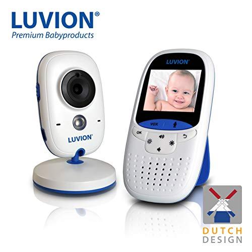 LUVION EASY - Babyphone mit Kamera, Nachtsicht, VOX Modus, Gegensprechfunktion und Temperaturüberwachung, 2 Zoll Video Überwachung Baby Monitor