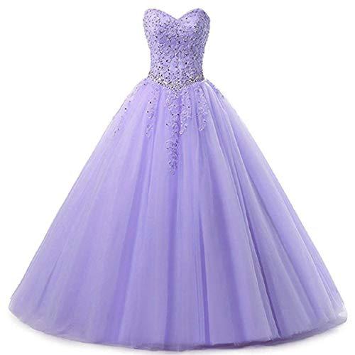 EVANKOU Damen Liebsten Lang Tüll Formellen Abendkleid Ballkleid Festkleider P25 Lavendel Große...