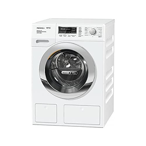 Lavasecadora de carga frontal modelo WTZH 730 WPMP PWash 2,0 & T Dos XL Wifi, 8Kg carga lavadora, 5Kg carga secadora, color blanco, 71,4 x 59,6 x 85 centímetros (referencia: Miele 11ZH7304E)