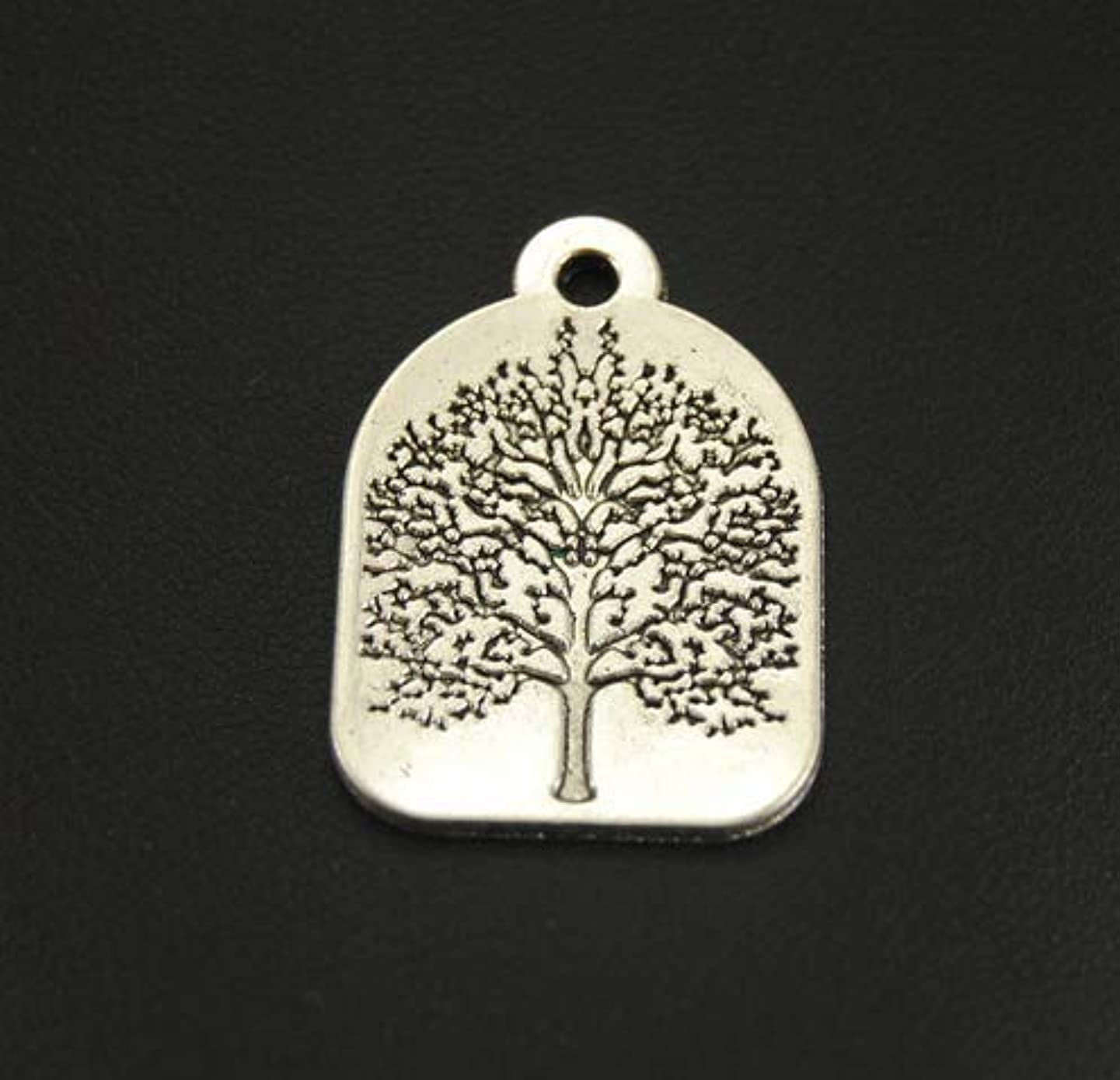 10 pcs Tree of Life Charms Antique Silver Tone 31x22mm (NS835)