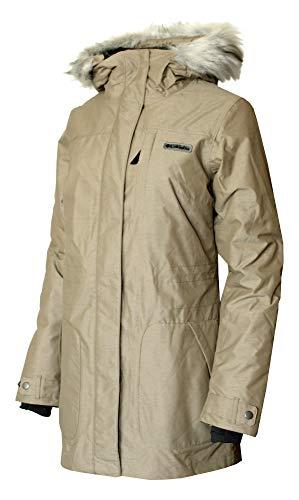 Columbia Beverly Mountain Women's 3 in 1 Interchange Omni Heat Waterproof Jacket (Truffle, XL)