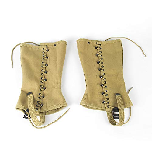 OLEADER Replica WW2 U.S. M1936 Dismounted Leggings, Boot Gaiters, Soldier Canvas Puttee Khaki