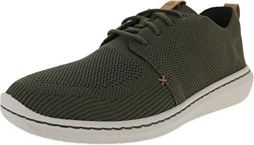 Clarks Step Urban Mix, Zapatillas para Hombre, Verde Khaki, 43 EU