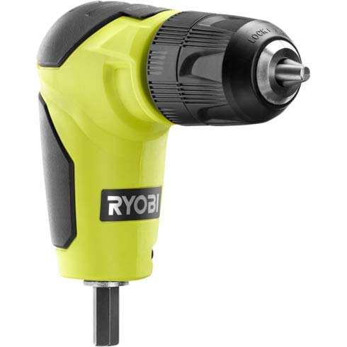 New Ryobi 18 Volt Right Angle 90 Degree Drill Attachment 3/8' Chuck A10raa1
