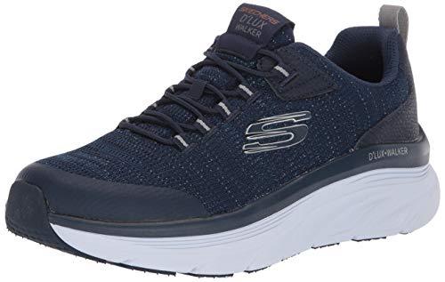 Skechers D'LUX WALKER - PENSIVE, Men's Sneaker, Navy Knit/Synthetic/Trim, 7 UK (41 EU)