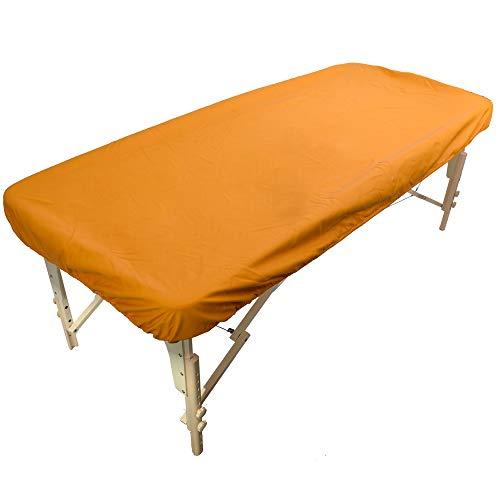 Massageliegenbezug Wasserabweisend und Ölabweisend aus Polyurethan für die Massageliege mit Gummizug - Pu-Bezug für Therapieliege (Gelb)