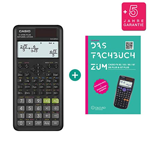 Casio FX-87DE Plus 2 (2nd Edition) + Fachbuch + Erweiterte Garantie
