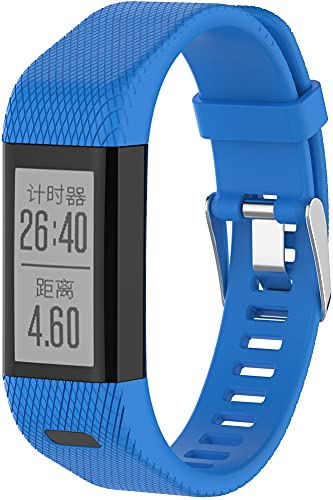 Gransho Repuesto de Correa de Reloj de Silicona Compatible con Garmin Vivosmart HR+ Plus/Approach X10 / Approach X40, Caucho Fácil de Abrochar para Relojes y Smartwatch (Pattern 6)