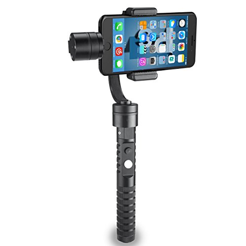 AFI V2 V Smooth 3-Axis Handheld Aluminum Brushless Gimbal Stabilizer for Smartphone & GoPro Action Cameras, Black