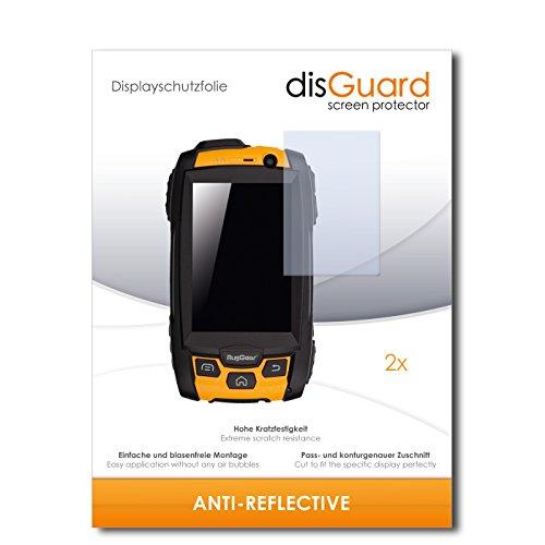 disGuard® Bildschirmschutzfolie [Anti-Reflex] kompatibel mit RugGear RG500 [2 Stück] Entspiegelnd, Matt, Antireflektierend, Extrem Kratzfest, Anti-Fingerabdruck - Panzerglas Folie, Schutzfolie