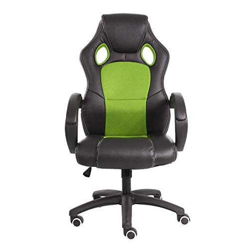 High Back Recliner For Adults, Gaming Swivel Chair Office Meeting Wheelchair Ergonomic Design, Breathable,Green