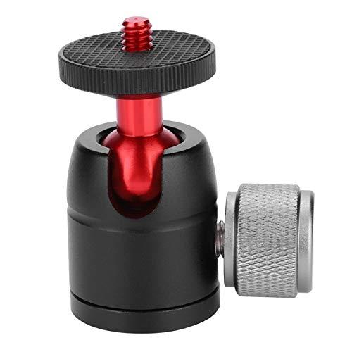 Soporte de rótula de bola duradero Mini rótula de bola giratoria antirrayas, para trípode de cámara DSLR, para soportes de luz