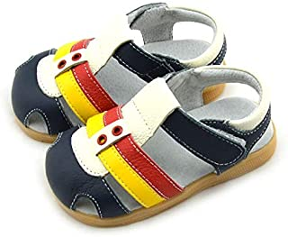 Boys Navy White & Yellow Sandal