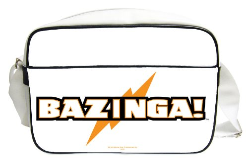 Sac Bandoulière 'The Big Bang Theory' - Bandouliere Bazinga Blanc