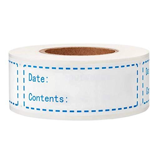 S-TROUBLE 150 Stück/Rolle Küchenaufkleber Kühlschrank Gefrierschrank Lebensmittel Lagerung Datum Inhalt Etikett