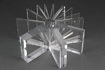 Acrylglas Zuschnitt Plexiglas Zuschnitt 2-8mm Platte/Scheibe klar/transparent (3 mm, 400 x 400 mm)