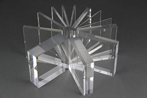 nattmann Acrylglas Zuschnitt PLEXIGLAS® Zuschnitt 2-8 mm Platte/Scheibe klar/transparent (3 mm, 400 x 400 mm)