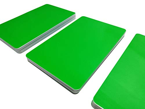 Premium Plastikkarten/PVC Karten Grün | 5-500 Stück, Rohlinge | blanko, Kartendrucker, NEU! (10) (50)