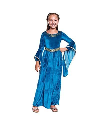 Disfraz Princesa Vikinga Medieval NiaTallas Infantiles de 3 a 12 aos[Talla 5-6 aos] Disfraz Nia Carnaval Histrico Vestido Medieval Aterciopelado Mangas Acampanadas Desfiles Teatro Actuaciones