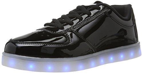 wize & ope Unisex-Erwachsene LED-POP Low-Top, Schwarz (Black 2), 41 EU